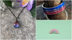 Some of the amazing gifts you can get featuring the bi flag colours.