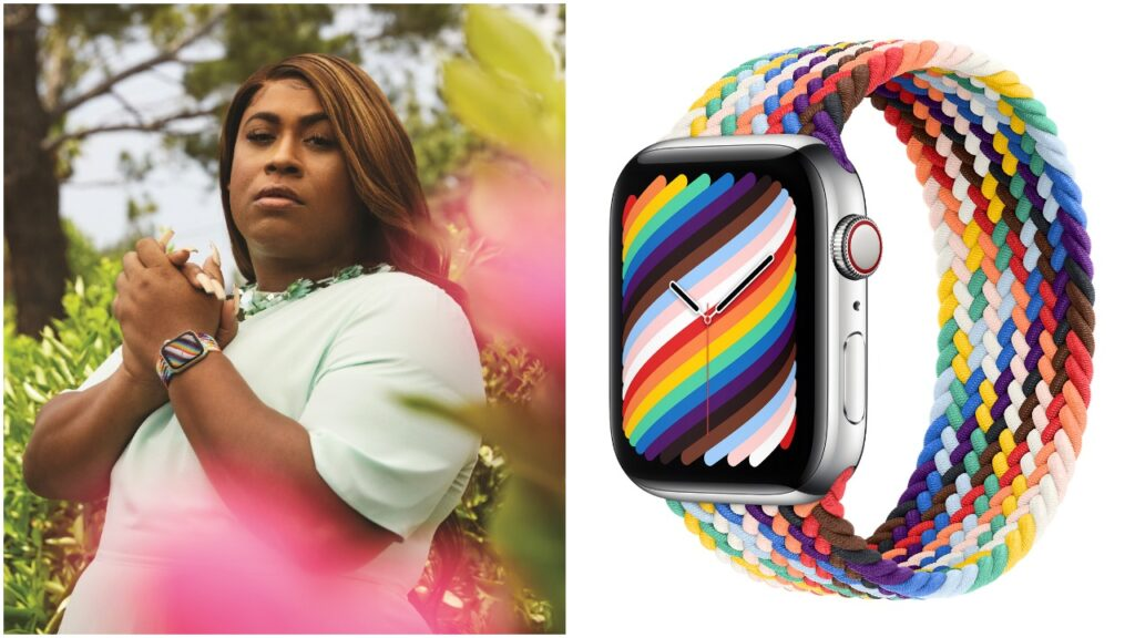 Dominique Morgan the first Black trans woman to sit on GLSEN's national board, appears in the Apple Watch Pride Edition campaign. (Apple)