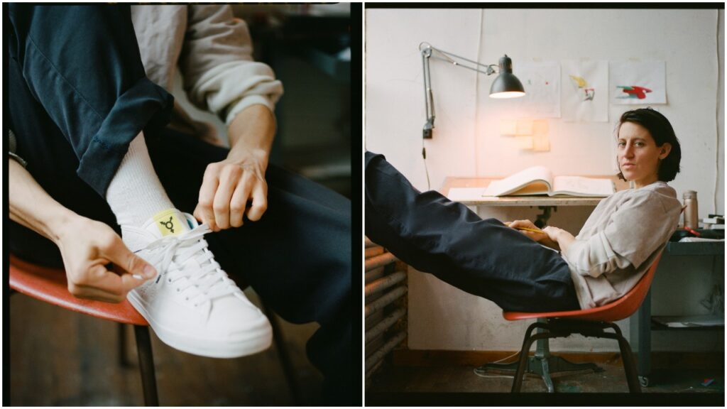 Queer skateboarder Alexis Sablone has teamed up with Converse on a new sneaker design. (Converse)