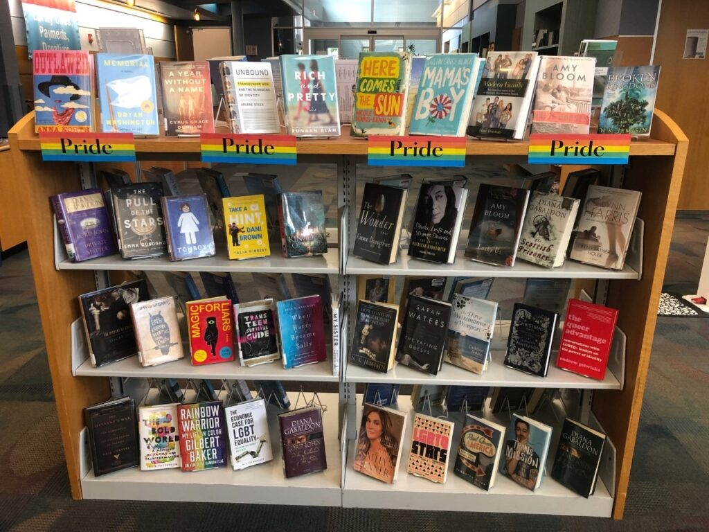 When Harry Became Sally in library Pride month display