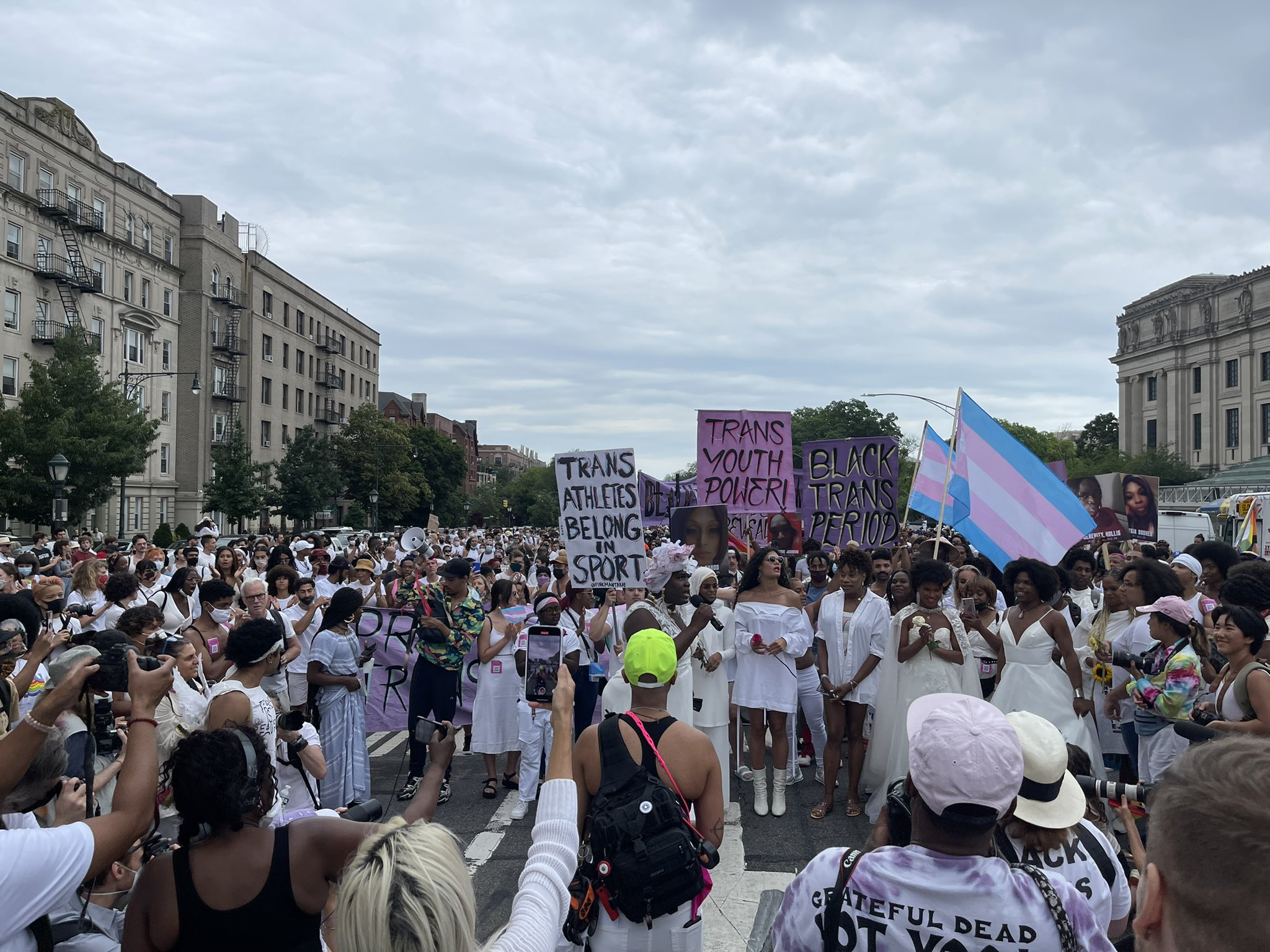 Thousands of trans rights protesters send powerful message to lawmakers and allies