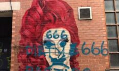 mural in Manchester gay village were defaced with homophobic graffiti