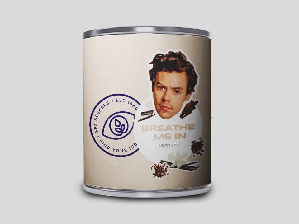 """The """"Breathe me in"""" candle which the spa says smells like Harry Styles himself. (SpaSeekers)"""