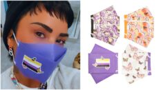 Demi Lovato has teamed up with Henry Mask to create four non-binary themed face masks. (Instgaram/Henry Mask)