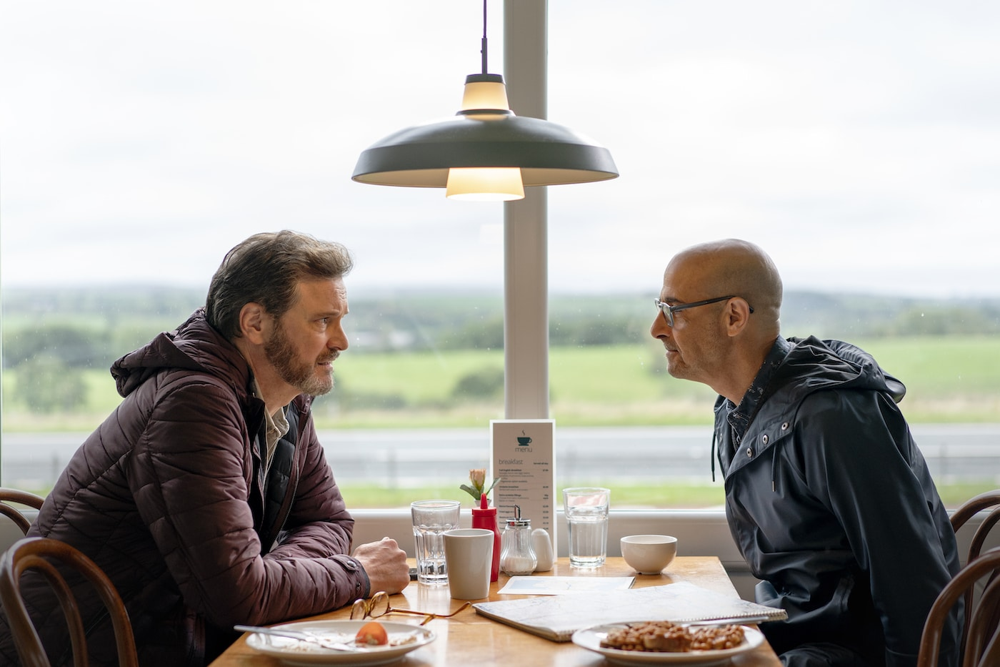 Colin Firth and Stanley Tucci in Supernova.