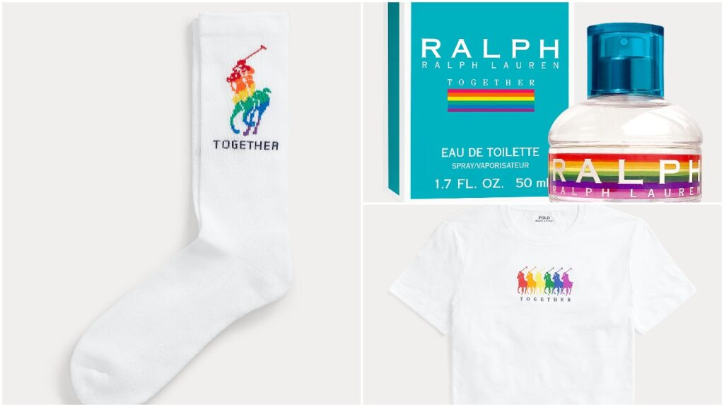 The Ralph Lauren Pride collection includes its popular fragrance, graphic tees and socks. (Ralph Lauren)