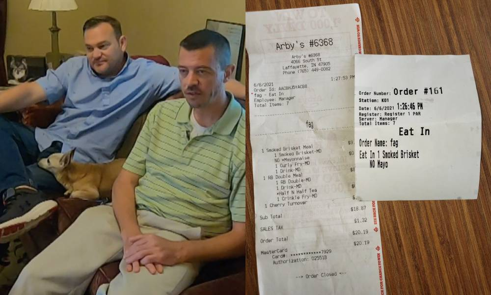 Arby's worker blames 'computer glitch' after calling gay man 'f*g' on his receipt