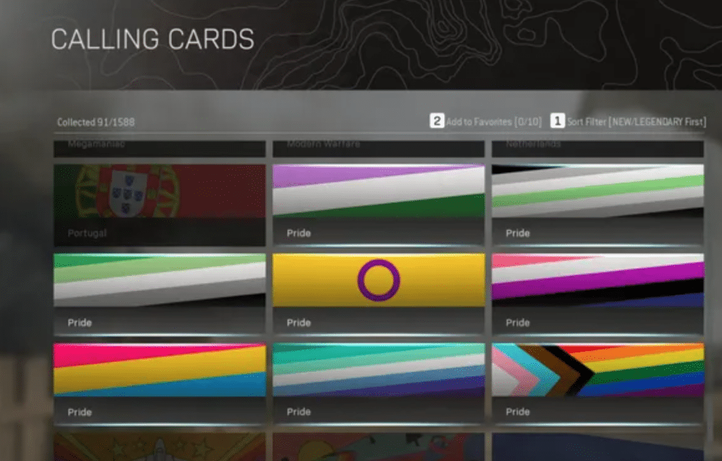 The Pride flags in Call of Duty