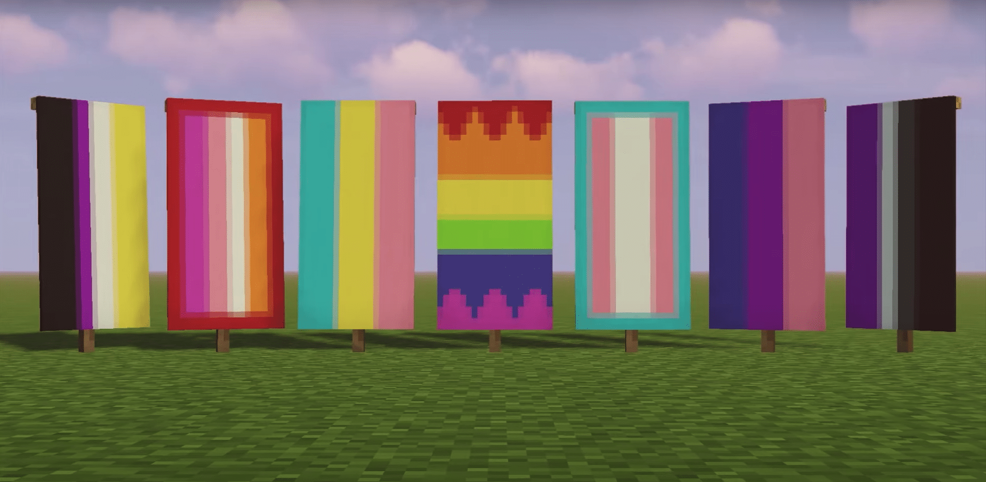 LGBT+ ally YouTuber shows Minecraft players how to make their own Pride flags