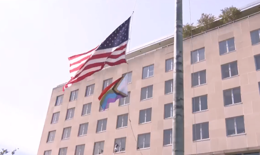 Progress Pride flag at the US State Department