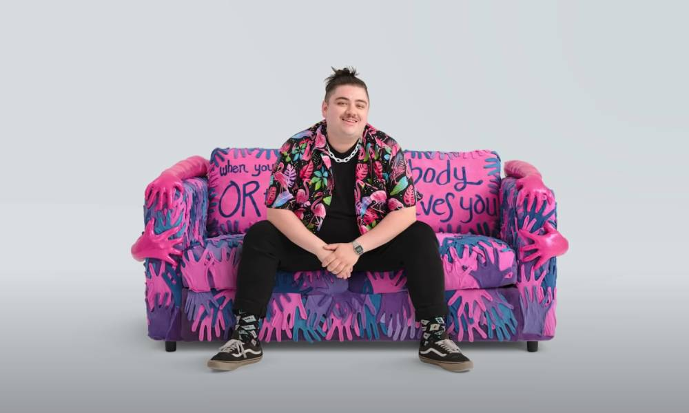 IKEA LGBT flags couch bisexual
