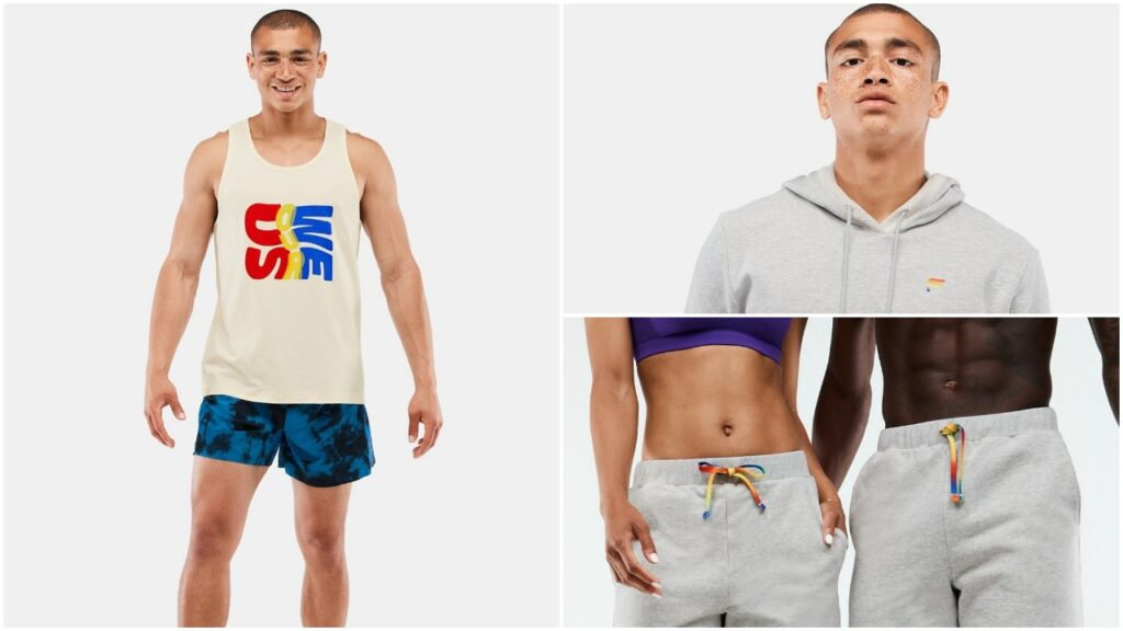 Fabeltics will donate $50,000 from the net proceeds of the Pride collection to GLAAD. (Fabletics)