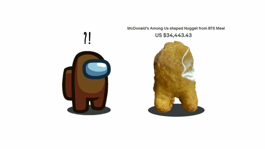 Among Us chicken nugget