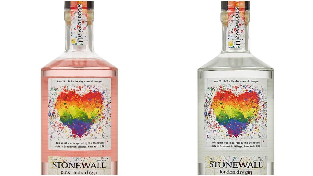 The Spirit of Stonewall gin is available in four flavours and donates to Stonewall UK all-year long. (Harvey Nichols)