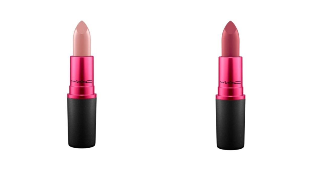 Viva Glam II and III from the collection which raises vital funds. (Mac Cosmetics)