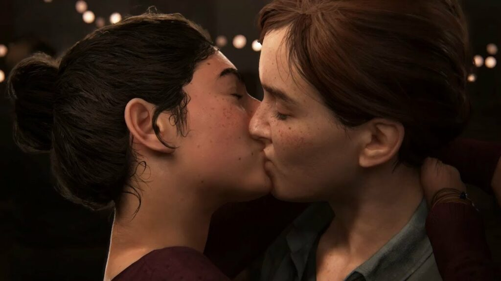 The Last of Us Part II Ellie and Dina kiss