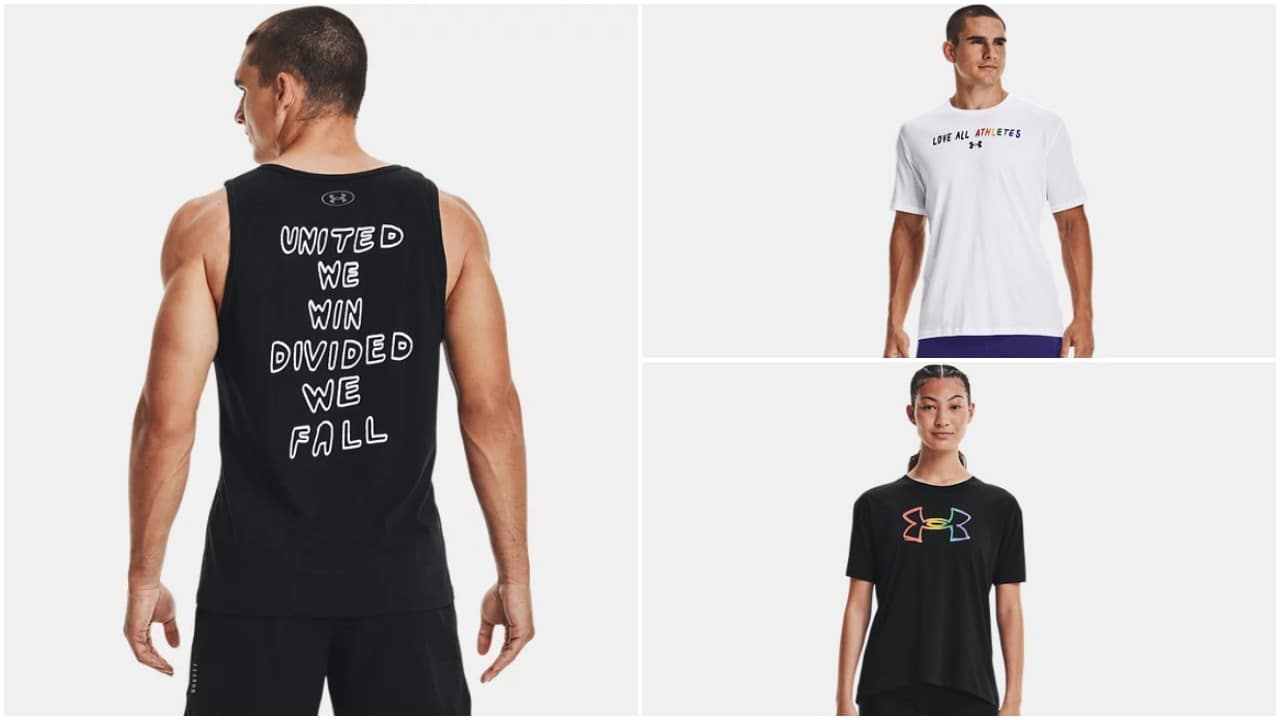 The Under Armour 'United We Win' collection features apparel, trainers and accessories. (Under Armour)