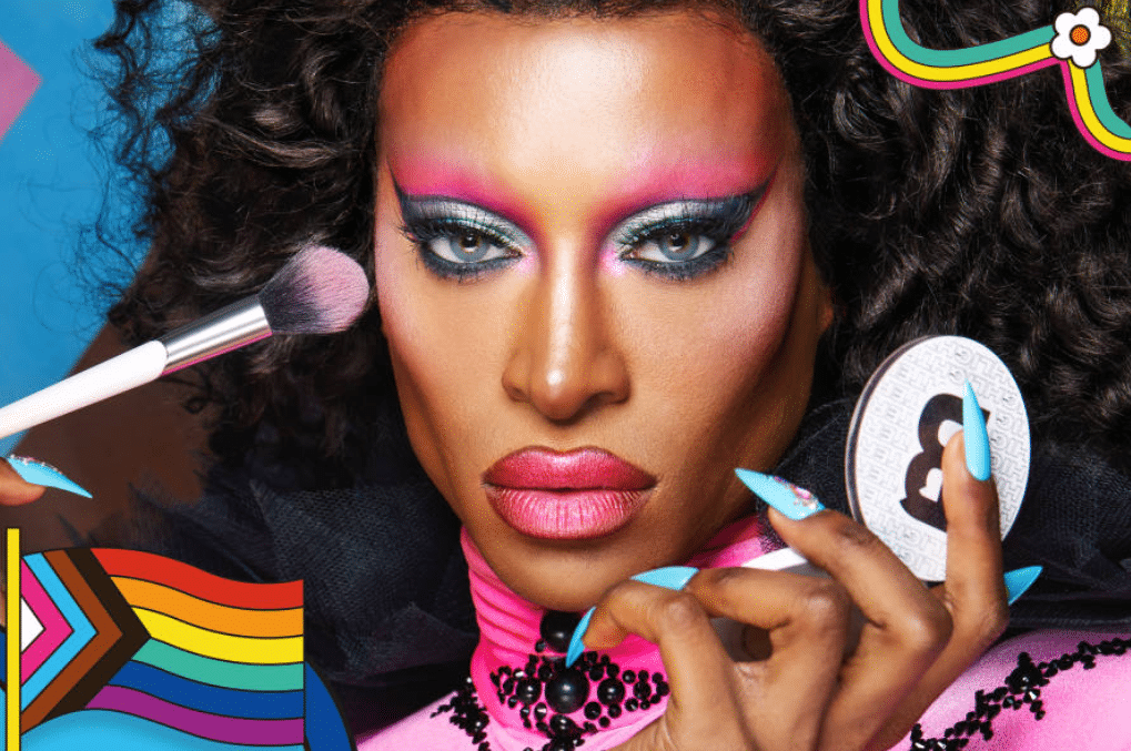 Tayce stars in the campaign for Beauty Bay's Pride collection. (Beauty Bay)