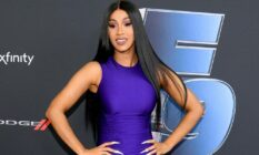 Cardi B poses during Road to F9 event
