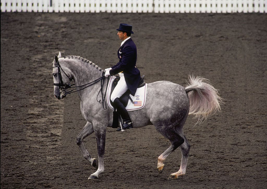 Robert Dover of the USA competes in Grand Prix Dressage