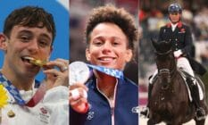 Tom Daley, Amandine Buchard and Carl Hester at the 2020 Tokyo Olympic games