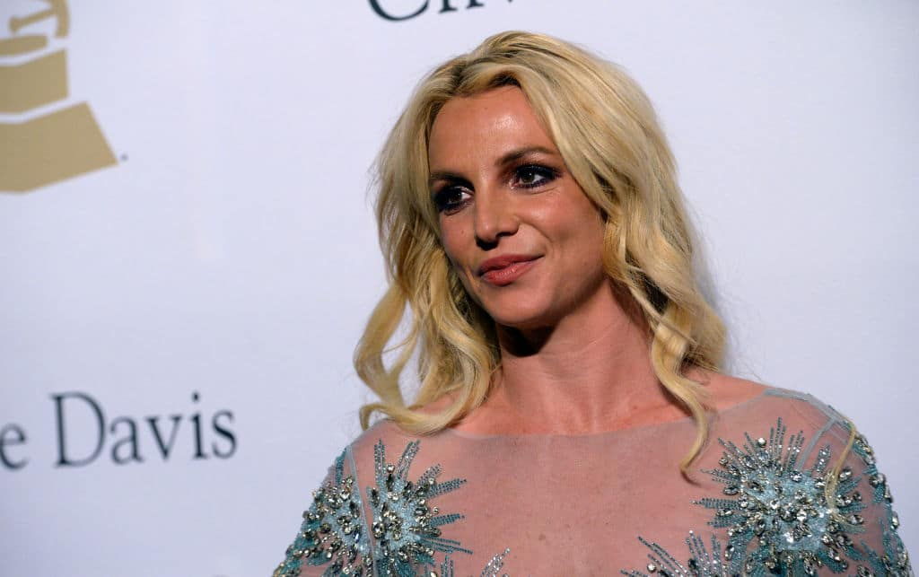 Britney Spears posing on the red carpet at an event