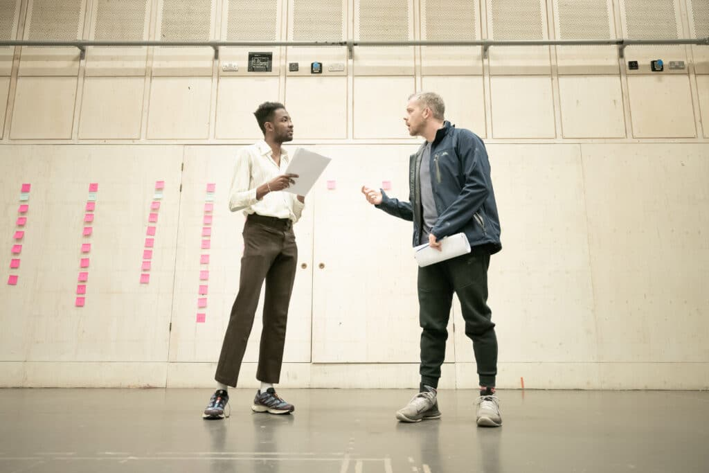 Omari Douglas and Russell Tovey in Constellations