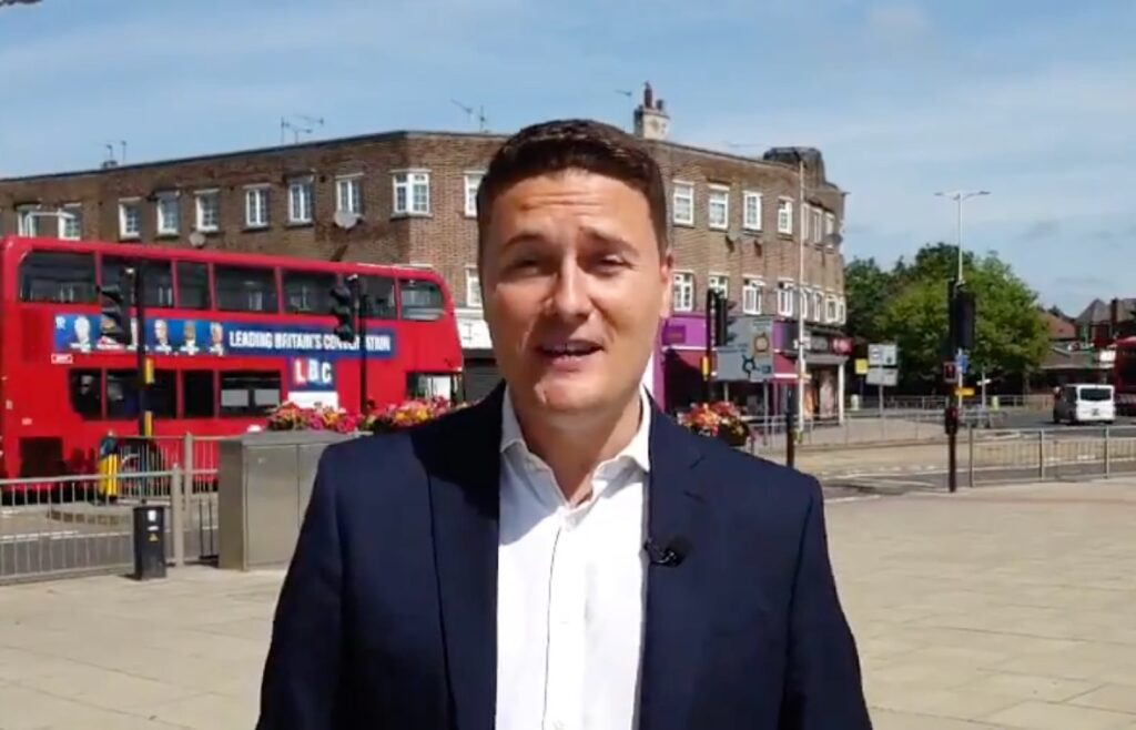 Labour MP Wes Streeting speaking in a video uploaded to Twitter about his recovery from kidney cancer