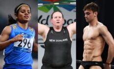 Dutee Chand, Laurel Hubbard and Tom Daley