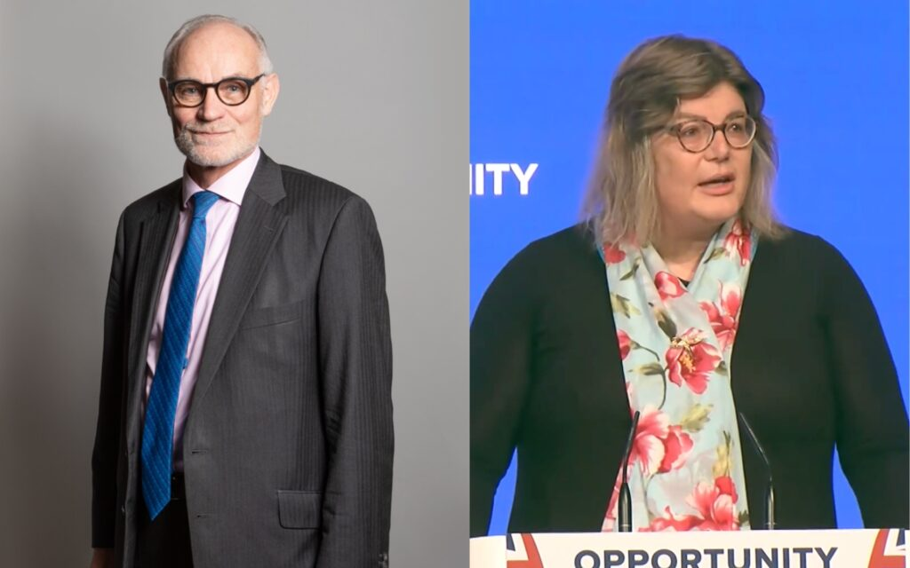 Tory MP Crispin Blunt and Conservative activist Sue Pascoe