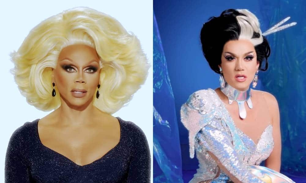 side by side of RuPaul and Drag Race alum Manila Luzon