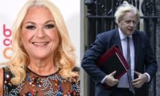 A side by side image of TV personality Vanessa Feltz and UK prime minister Boris Johnson Feltz has slammed the uk government for failing to ban conversion therapy