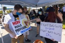 Employees of the video game company, Activision Blizzard, hold a walkout and protest rally