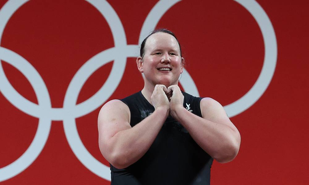New Zealand's Laurel Hubbard competes at the 2020 Tokyo Olympic Games