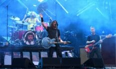 Foo Fighters perform on stage during Lollapalooza 2021