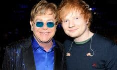 A picture of Elton John and Ed Sheeran attend the 55th Annual GRAMMY Awards