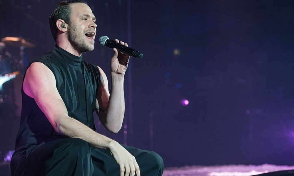Will Young singing into a microphone