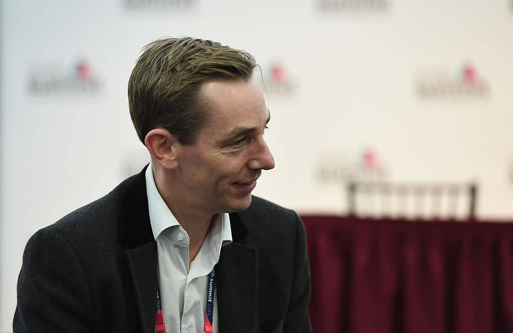 Broadcaster Ryan Tubridy in attendance at Day 3 of the 2015 Web Summit in the RDS, Dublin, Ireland.