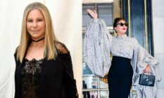 Side by side images of Barbra Streisand and Lady Gaga