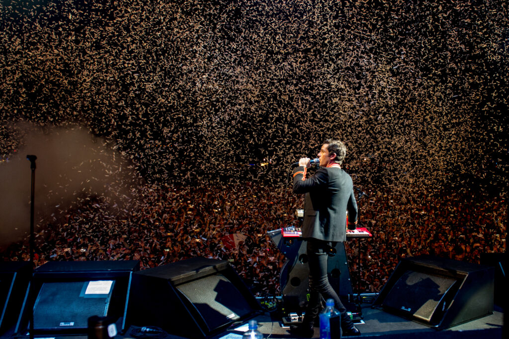 Brandon Flowers from The Killers performs in Mexico City