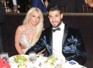 Honoree Britney Spears (L) and Sam Asghari attend the 29th Annual GLAAD Media Awards at The Beverly Hilton Hotel on April 12, 2018 in Beverly Hills, California.