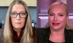 Side by side of Mary Trump and Meghan McCain from appearances on The View