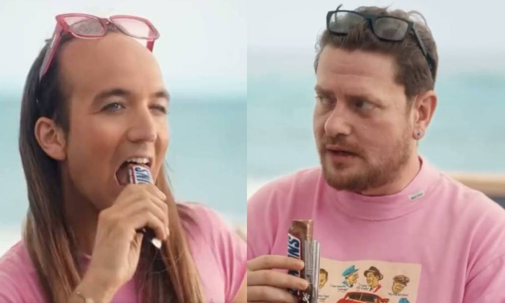 Spanish influencer Aless Gibaja appears in advert for Snickers which was accused of being homophobic