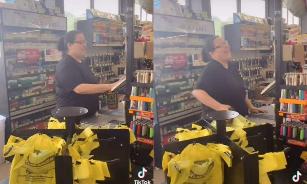 TikToker mortuaryschool101 confronts Dollar General cashier who compared being trans to being vaccinated