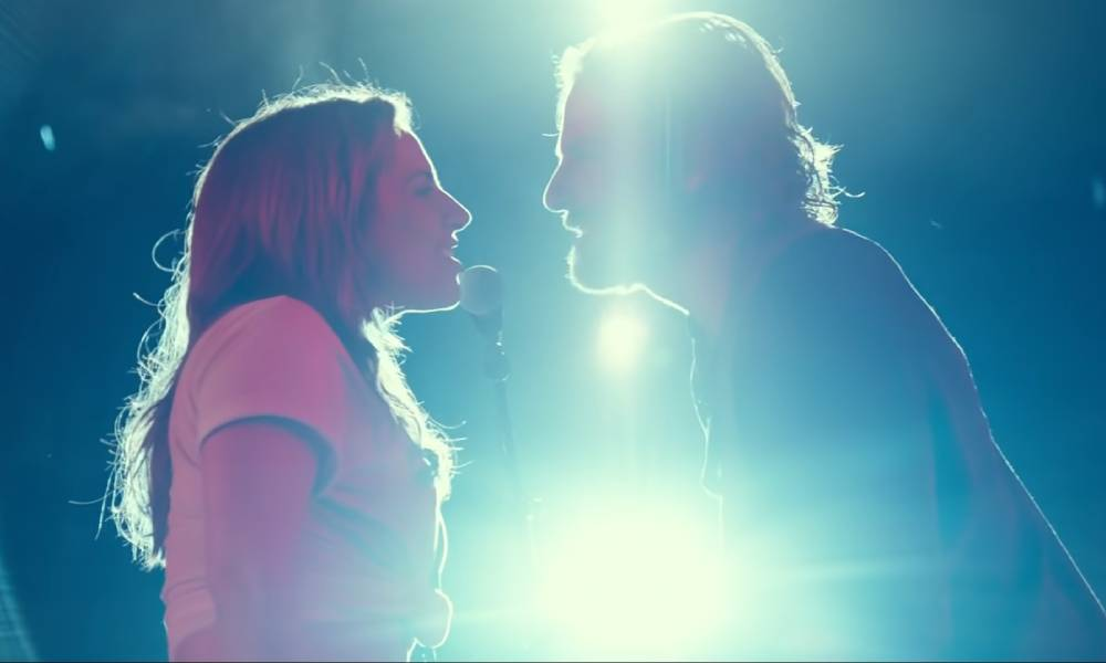 """Lady Gaga and Bradley Cooper perform""""The Shallow"""" A Star Is Born"""