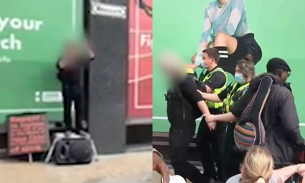 A 40-year-old man was arrested in Leeds city centre after becayse of his hate-filed views about the LGBT+ community and premarital sex