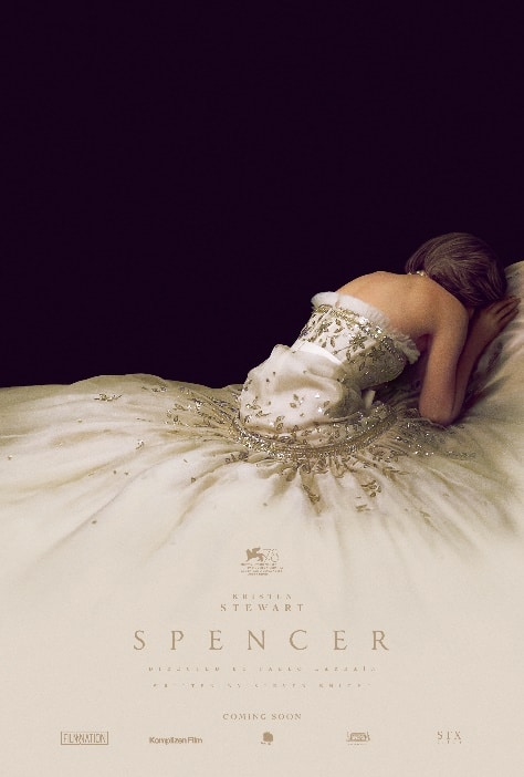 Kristen Stewart in the official poster for Spencer, the Princess Diana biopic