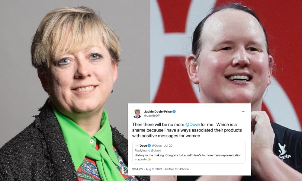 Tory MP vows to stop using Dove soap after brand celebrates Laurel Hubbard and trans athletes