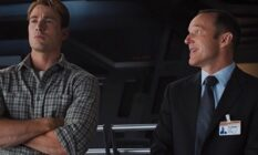 Phil Coulson looking lovingly at Captain America
