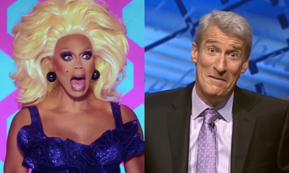 RuPaul and Jeremy Paxman